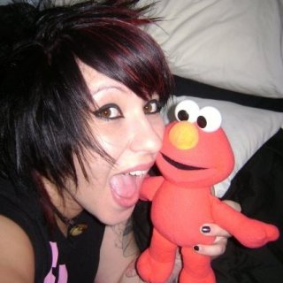 Elmo and I lol 2009
