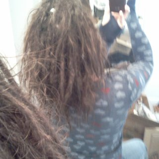 Why is it so darn hard to take a picture of your own back of head? ;)