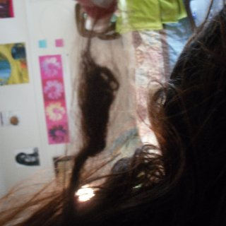 the only one I ever did with tnr to test it out. It's about a month old and kind of weird because it has like 4 inches of loose, undreaded hair. Oh well
