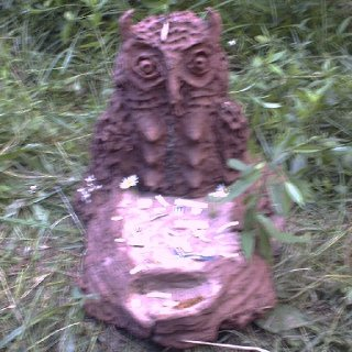 michigan rainbow gathering mud sculpture
