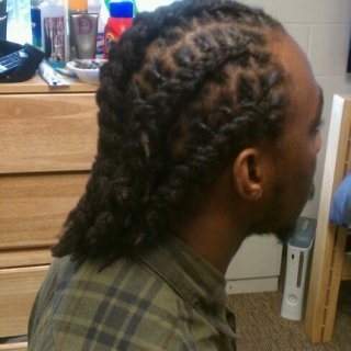 THIS IS MY DREADS CORNROWED..i DNT LIKE MY SCALP SHOWING..BUT you can see very healthy and a different look.