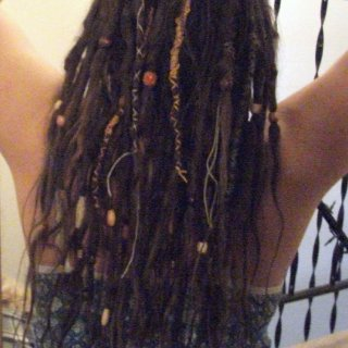 decorated dreads 5 months 2 weeks old