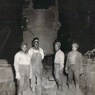 He's 2nd from the left. They were all proud steel union men. My dad worked there for over 40 years.