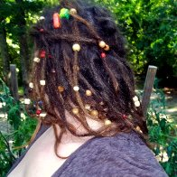 dreads with beads all tied up