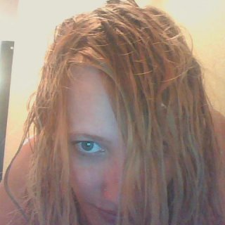 my hair is still wet, but gives you an idea of how my hair is separating.