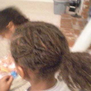 my 6 yr old nephew getin his first locs, we have neva cut his hair and now his locking journey begins! i got to do the honors! (rip n twist)