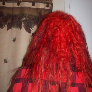 The back again. The biggest dreads form up the fastest. Especially the back ones!