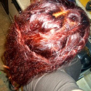 Dyed my hair with henna.