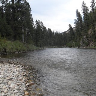 River flowing through past Pine Flats hot spring.