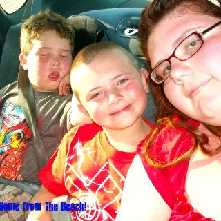 My and my kiddos on the way home from BaySprings Beach.