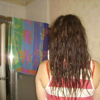 8-17-11. Haven't brushed in about 2 months. 2 backcombed dreads, one underneath and one on top in the front.