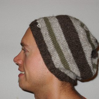 Fiance modeling his new winter wool hat :)