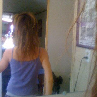same silly mirror time as last, back view