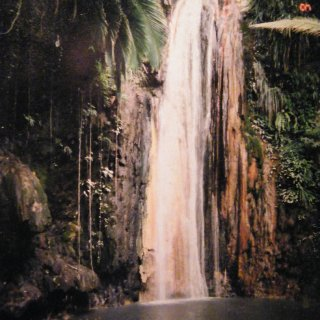 this is the water fall from romancing the stone in st lucia