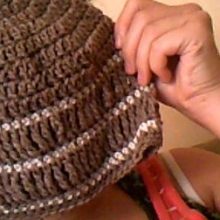 beanie hat i made.