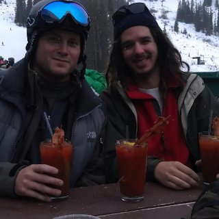 Taking a break from first time skiing of the season. Dreads are 9 months old at this point