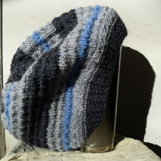 A subtle array of blues, this cozy tam is perfect for medium to semi-large dreadies!  http://www.etsy.com/listing/85570957/wool-dreadlock-tam-head-decoration-dread