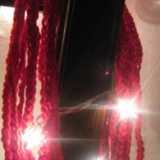 also known as The FLorida scarf. I created this to wear for the Holidays. I may make one in red and green