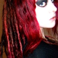 Dreads when I had just dyed them red
