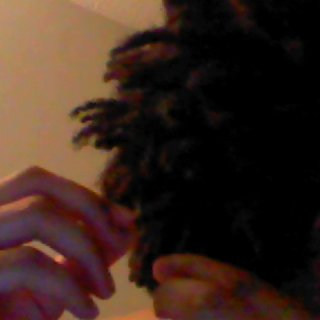 Tried to get my two baby dreads...oh well