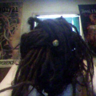 my dreadlocks tied up