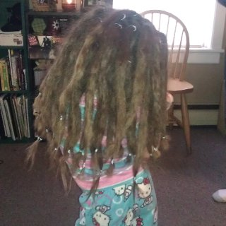 Gilly's first day with dreads! Age 4