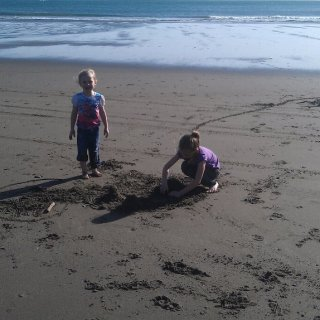 all they could talk about on the four hour trip down was making a sand castle
