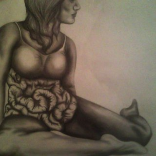 This was my first life drawing model. Changed up the torso a bit...