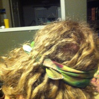 the root on the braid was to seperate, maybe I will put one back in later. most of these back dreads are 7 month neglect