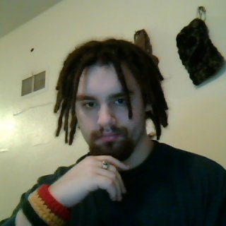 showin off non crocheted dreads and new wristband