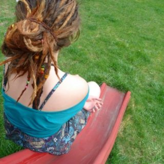 we took lots of pics yesterday and I loved this one of my dreads.