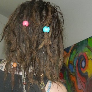 This was right after a baking soda wash and acv rinse, first time ive used the EXACT recipe SE has shared with us, and omggggg its amazing, my dandruff (i had a lot) was completely vanished and still is a week later.. my dreads smelled AMAZING afterwards and they were the softest theyve ever been, once you go BS/ACV you never go back :) hahaha