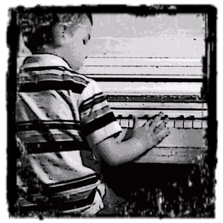 He loves playing the piano :)