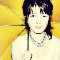 Yellow umbrella!