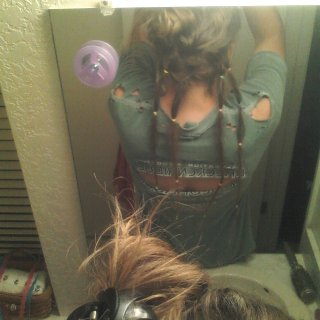 I never realized how hard it was to photo, or dread for that matter, the back of your head.