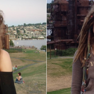 Theodora Martino  My dreads here from 1 day to a year at the same place!