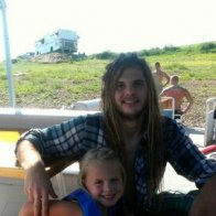 Me and my lil sis at the lake.