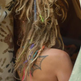 back view of dreads