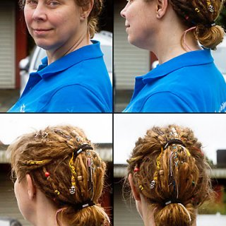 I have a weekend job demonstrating cameras. This is how I wear my hair.