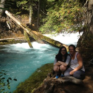 the daughter and i on some river in southern oregon..the blue river i think
