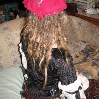 This is also the back of my halloween costume. I was an undead pirate.