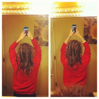 i brushed out the big ass congo on the back of my head,can you see it?? what you think?