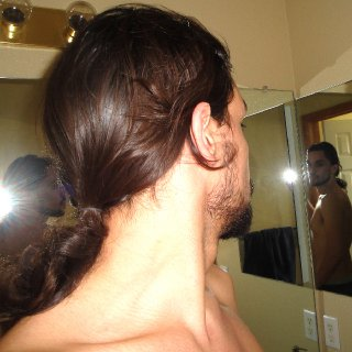 my normal hair texture before dreads way back in 2011 before i cut it all off