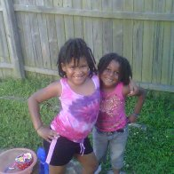 My daughter and niece