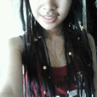This was my 2nd set of dreads, they were only about 3 weeks old this time :)