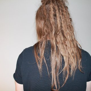 Hair in the front dont wanna dread just yet..
