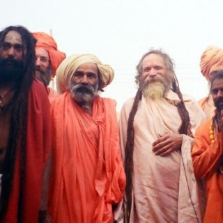 goa gil with the sadhus