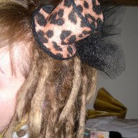 Brown dreads...and one of my hats :)