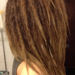so i decided to redo my dreads and make the sections smaller. made them 1 inch this time. much better! :)