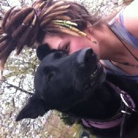 Dreads and Kali dog.